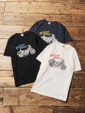 CALEE  「WASHED FXR  T-SHIRT」 プリントティーシャツ