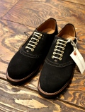 REGAL × GLAD HAND   「MEN'S SADDLE VELVET COW HIDE - SHOES 〈BLACK〉 」 スウェードサドルシューズ