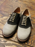 REGAL × GLAD HAND   「MEN'S SADDLE VELVET COW HIDE - SHOES 〈GRAY×BLACK〉 」 スウェードサドルシューズ