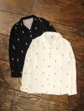 GANGSTERVILLE  「HARLEQUIN - L/S SHIRTS」  レーヨンオープンカラーシャツ