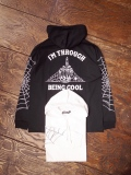 COOTIE  「 Hooded Print L/S Tee (I'M THROUGH BEING COOL) 」  フーデットプリントロングスリーブティーシャツ
