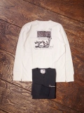 GANGSTERVILLE  「BURLESQUE - L/S HENLEY T-SHIRT」  ポケットヘンリーネックティーシャツ