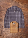 CHALLENGER   「L/S CHECK FLANNEL ZIP UP SHIRT」  ジップシャツジャケット