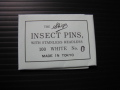 無頭シガ昆虫針 0号 標本針(最上質ステンレス製) 1包(100本入)