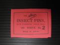 有頭シガ昆虫針 2号 標本針(最上質ステンレス製) 1包(100本入)