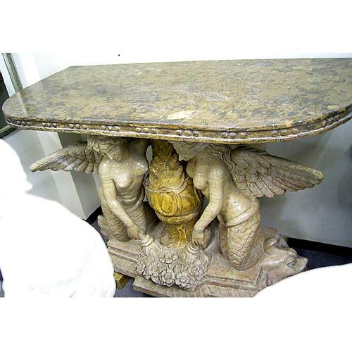 天然大理石彫刻 セイレーンテーブル 【商品番号:m-0017】