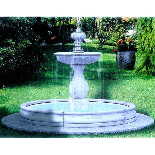 噴水 ジェノバGENOVA(循環ポンプ付) イタリア製大型噴水 【※商品番号:m-fo2693】