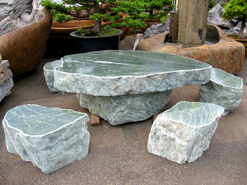 三波石 テーブル・イス