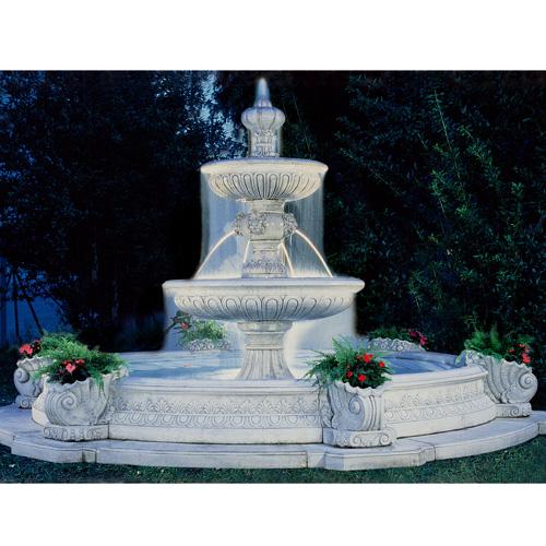 イタリア製大型噴水 シエナSIENA(循環ポンプ付) 噴水でお庭を演出 【商品番号:m-fo2656】