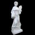天然大理石彫刻(石像) 麦を持つ乙女 【商品番号:m-0034】