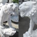 天然石彫刻石像 トラ 動物像