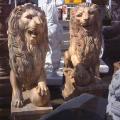 天然大理石彫刻 ライオン・ペア 【商品番号:m-0051】