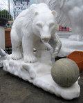 天然大理石彫刻 クマ 【商品番号:m-0057】