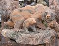 天然大理石彫刻 熊(クマ)の親子 【商品番号:m-0058】