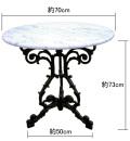 大理石 丸テーブル