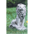 動物像 石像 ライオン ガーデニング 大理石 オーナメント イタリアンガーデン