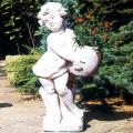 イタリア製石像(ガーデン オーナメント) アンジェリコ(左)ANGELICO SX 【※商品番号:m-pu0148】