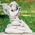 イタリア製子供像(ガーデン オーナメント・石像) エンゼル(ローズ) 【※商品番号:m-pu8003】