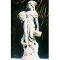 イタリア製子供像(ガーデン オーナメント) 花かごを持つ乙女(小) 【※商品番号:m-st017501】