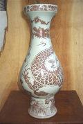 景徳鎮 釉裏紅 花瓶