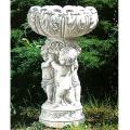 イタリア製石像(ガーデン オーナメント) 子供のフラワーポット(大) 【※商品番号:m-pu0136】