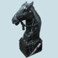 馬置物 馬頭 大理石彫刻 馬彫刻 動物置物