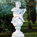 イタリア製子供像(ガーデン オーナメント) 子供の楽団(大)マンドーラ 【※商品番号:m-pu2020】