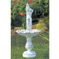 噴水でお庭を演出 イタリア製小型噴水 水を汲む乙女(循環ポンプ付) 【※商品番号:m-fo5689】