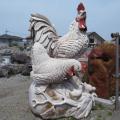 雄鶏 庭園 置物 オブジェ 和風 庭 日本庭園