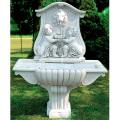 イタリア製壁泉 ライオンと子供NIZZA(循環ポンプ付) 【※商品番号:m-fo2645】