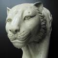 ライオン置物 ライオン頭 大理石彫刻 ライオン彫刻 ヒョウ