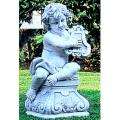 イタリア製石像(ガーデン オーナメント) 子供の楽団 (レオポルド) 【※商品番号:m-pu2058】