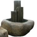 蹲 六方石つくばい 噴水 和風庭園