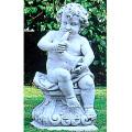イタリア製石像(ガーデン オーナメント) 子供の楽団(ロレンツオ) 【※商品番号:m-pu2060】