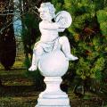 イタリア製子供像(ガーデン オーナメント) 子供の楽団(大)シンバル 【※商品番号:m-pu2022】