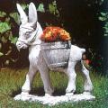 イタリア製動物像 ロバと花かご
