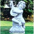 イタリア製石像(ガーデン オーナメント) 子供の楽団(ティエーポロ) 【※商品番号:m-pu2057】