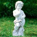 イタリア製子供像(ガーデン オーナメント) 子供の楽団(小)トロンボーン 【※商品番号:m-pu0108】