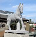 天然御影石彫刻 駿馬の像