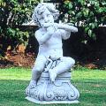 イタリア製石像(ガーデン オーナメント) 子供の楽団(ヤーコポ) 【※商品番号:m-pu2059】
