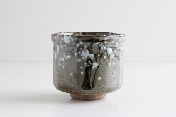 筒茶碗 乾山 雪笹 花月窯