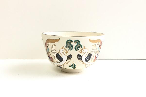 茶碗 仁清 鳳凰刃紋 平安御室窯作