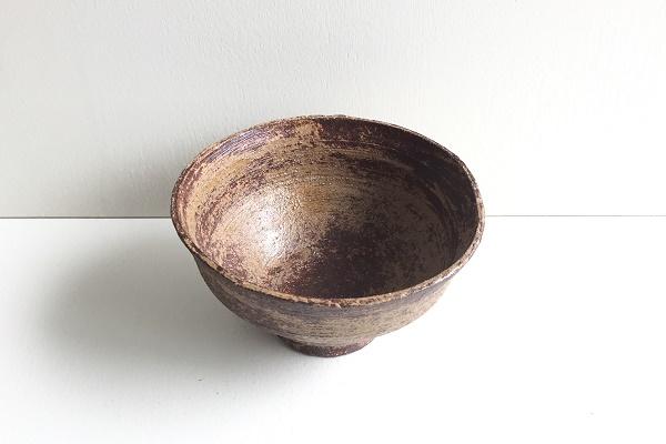 茶碗 柿の蔕 加藤錦雄作