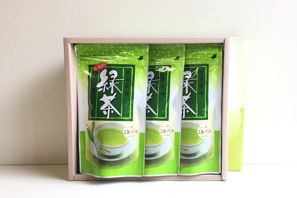 緑茶ティーバッグギフト 5g×15袋 3本組