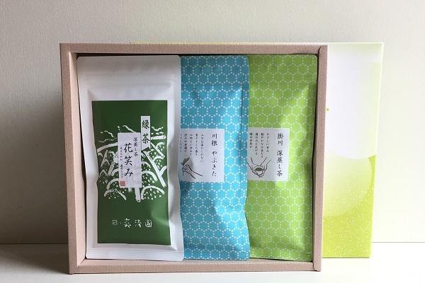 日本茶100g 3本組ギフト 袋入り