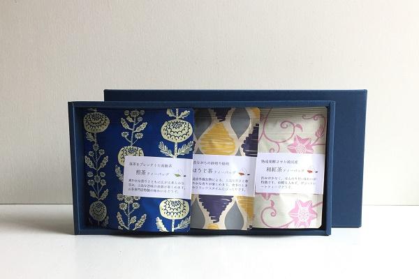 日本茶ティーバッグ 茶種別 3g×5袋 3本組ギフト