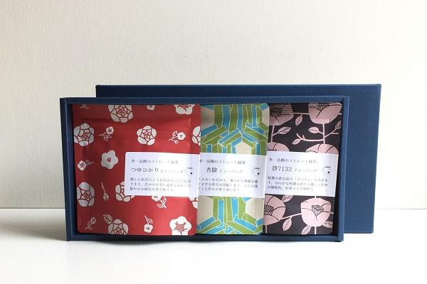 日本茶ティーバッグ 品種別 3g×5袋 3本組ギフト