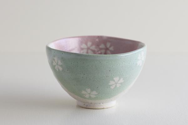 茶碗 春三色