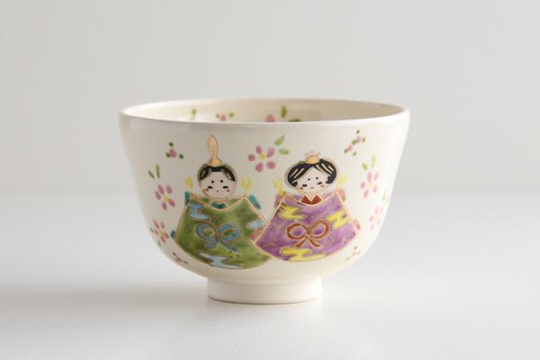 茶碗 仁清 内裏雛 田中香泉作