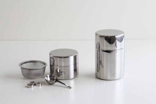 近藤さんの茶篩缶 ステンレス製